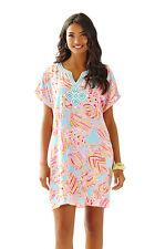 NWT Lilly Pulitzer Harlow Tunic Dress Breakwater blue SZ S M MSRP $198