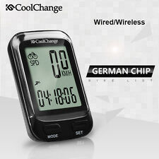Wired/Wireless LCD Cycling Bike Computer Bicycle Odometer Speedometer Stopwatch