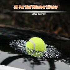 Funny 3D Auto-Car Styling Ball Hits Body Window Car Sticker Self Adhesive Prank