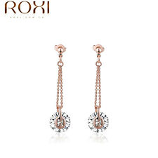 Earrings Exquisite Crystal Gold Plated Simple Zircon Pendant Fashion Women gifts