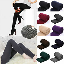 Women Thick Warm Fleece Lined Thermal Stretch Slim Skinny Pants Tights Pantyhose