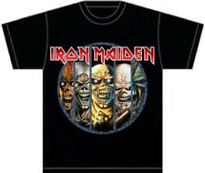 Iron Maiden T-shirt - Iron Maiden Eddie the Head Mascot Versions | Men's Black S
