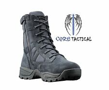 """SMITH & WESSON BREACH 2.0 9"""" MENS WATERPROOF SIDE ZIP BOOTS GUNMETAL SIZES 7-13"""