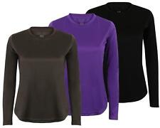 Womens Base Layer T Shirt Active Gym Top Ladies Long Sleeve Running Sports Tee