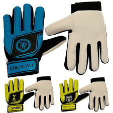 Football GoalKeeper Gloves Official Keeper Mitts Match Training Fluo Kids Youths