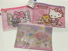 Adorable Sanrio Zip Pouch Wallet Little Twin Stars My Melody Hello Kitty Japan
