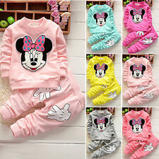 Baby Girls Minnie Hoodie Sweatshirt Top +Pants Casual 2Pcs Outfits Set Tracksuit
