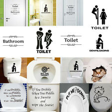 Removable Wall Stickers Bathroom Decor Toilet Door Sign Vinyl Art Decals one