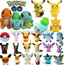 Anime Pokemon Go Pikachu Squirtle Soft Plush Toy Stuffed Doll Gifts Kids Toys