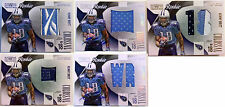 09 Kenny Britt lot National Treasures rc auto colossal patch jersey laundry tag