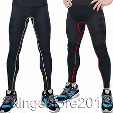 Mens Compression Base Layer Long Pants Sports Running Trousers Tights Activewear