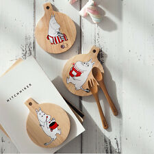 Moomin Wooden Tea Coffee Drink Cup Mug Glass Coaster Pad With Handle