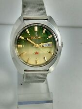 NOS Ricoh vintage automatic green beige dial watch new old stock, MINT 80' stock