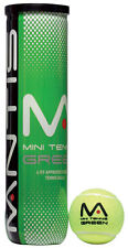 MANTIS Mini Tennis Green Balls Tube of 4 / ITF Approved / Stage 1 Balls / Slower