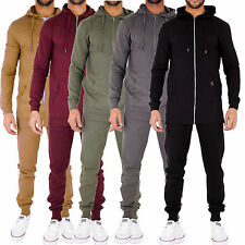 New Mens Full Tracksuit Hoody Zip Up Sweatshirt Top Skinny Slim Fit Joggers
