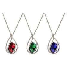 Stylish Elegant Teardrop Angel Tear Crystal Pendant Long Chain Sweater Necklace