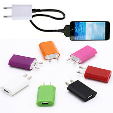 R New Brand Usb Eu Wall Charger Plug 5V Ac Power Adapter For Iphone 6 Xiaomi