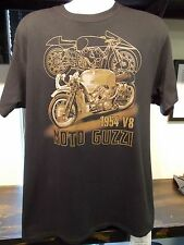 Moto Guzzi 1954 V8 Racer Cadre Cycle black with gold print T Shirt, specify size