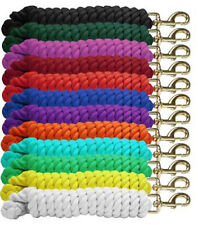 """Showman Braided 3/4"""" x 10' COTTON LEAD ROPE with BRASS Snap"""