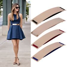 Women Sexy Elastic Belt Mirror Waist Band Gold Bling Plate Wide Leather Metal