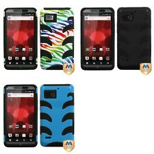 For Motorola Droid Bionic XT875 Hybrid IMPACT Hard Soft Rugged Armor Case Cover