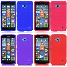 For Nokia Lumia 640 Rugged Thick Silicone Grip Soft Skin Case Cover