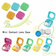 Plastic Mini Contact Lens Case Outdoor Travel Contact Lens Holder Container FY