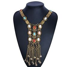 Womens Vintage Necklace Antique Gold Tribal Bohemia Style Jewelry Free Shipping
