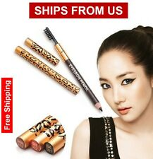 Choose From 5-Color Leopard Long lasting Eyeliner Eyebrow Pencil With Brush