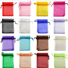 New 50Pcs Sheer Organza Wedding Party Favor Gift Candy Bag Pouch Jewelry 12x9cm