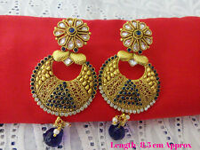 Indian Bollywood Jewelry Earring Ethnic Gold Plated Traditional Polki Earring