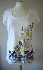 NEW - M&S - size 10 & 14 - lovely White COTTON print ladies TOP/TUNIC - BNWoT