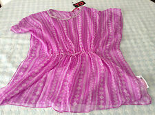 girls beach cover up swimsuit kaftan blouse top lilac sequins 7-13 years NEW TAG