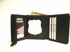 Police Badge Wallet Fits Full Size Recessed Badge Cut Outs BiFold Style  CT-09