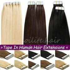 "16""-24"" 20pcs-40pcs 100g Tape In Seamless Skin Weft Human Hair Extensions I374"