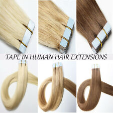 "16""-24"" 20pcs-40pcs 100g Tape In Seamless Skin Weft Human Hair Extensions I369"