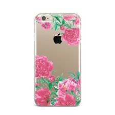 Peonies Floral Flower Design Silicone Rubber Gel Case For IPhone 4S 5S 6S 7+