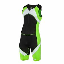 SLS3 Men`s Triathlon Tri Race Suit 1 Pocket - great from Sprint to Ironman Lime,