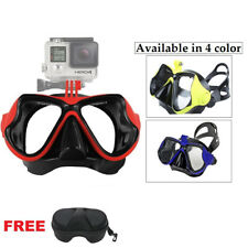 NEW Diving Mask with GoPro Bracket Snorkelling Snorkel Scuba Swimming Goggles