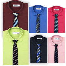 Boys Formal Shirts with Tie Kids Smart Suit Shirt Wedding Pageboy Prom Party