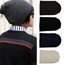 R Unisex Men Hip-Hop Warm Winter Wool Knit Ski Beanie Skull Slouchy Cap Hat