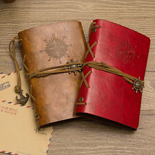 RETRO FAUX LEATHER COVER NOTEBOOK JOURNAL DIARY BLANK STRING NAUTICAL ALLURING