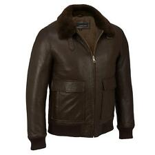 Wilsons Leather Mens Leather Bomber W/ Fur Collar