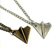 One Direction Harry Styles Paper Plane Aeroplane Necklace Gold Silver Long New