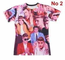 2017 3D Printed Famous Singer Star Justin Bieber T-Shirt Fashion Unisex Tee Tops