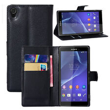 FOR SONY XPERIA Z5 Flip Leather Wallet case Card Holder Stand Case/Pouch