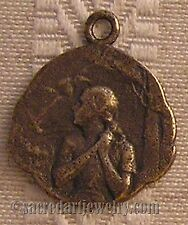 Saint Joan of Arc Antique Replica Medal Pendant Sterling Silver or Bronze 1069