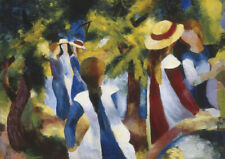 August Macke - Girls in the Forest - QUALITY Decor Canvas Print Poster Unframed
