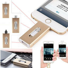 8- 64 GB 3in1 Flash Drive USB U Disk Memory Stick for iPhone IOS Android iPad PC