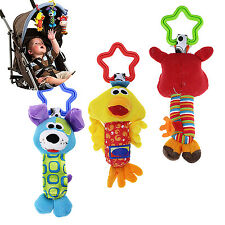 R Kids Baby Soft Animal Handbells Rattles Bed Stroller Bells Developmental Toy